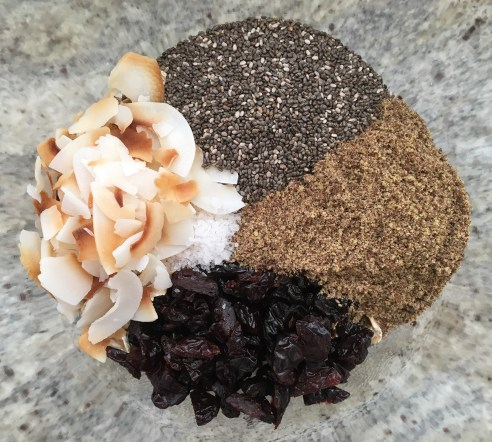 dry ingredients for chocolate cherry bites