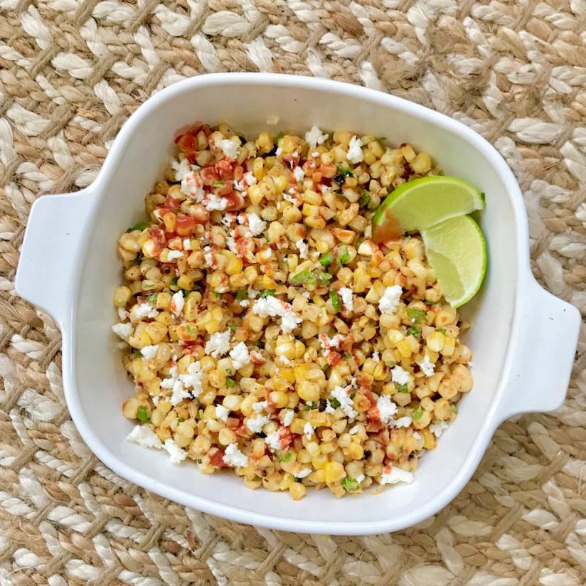 mexican street corn, healthy mexican corn recipe, elotes in a cup recipe