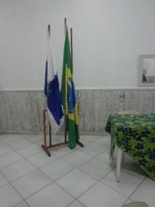 Representatividade na bandeira do Rotary juntamente com a do Brasil