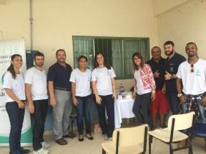 Agora, mesmo grupo da Equipe da Ortopedia São Jose, mas na área destinada a medição de glicose e aferição da pressão arterial.