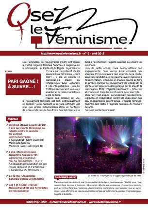 Journal 19 d'Osez le féminisme !