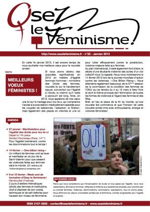 Journal 23 d'Osez le féminisme !