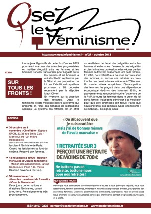 Journal 27 d'Osez le féminisme ! 21 Octobre 2013