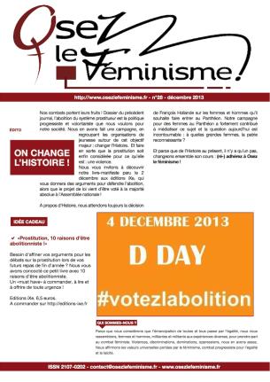 Journal 28 d'Osez le féminisme ! Décembre 2013 L