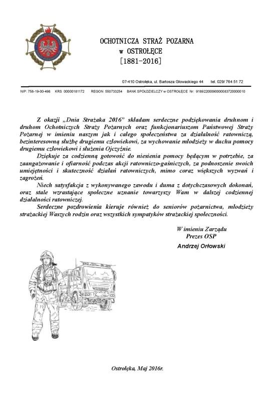 DZIEŃ STRAŻAKA _2016