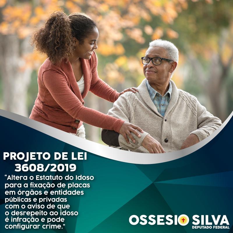 Ossesio Silva quer placas de avisos para respeito aos idosos