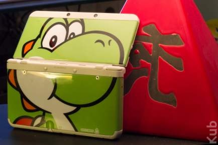 New 3DS avec son cover plate Yoshi
