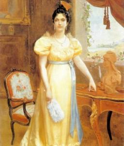 Luisa Cáceres de Arismendi,  Óleo sobre tela 268,5 x 182,4 cm Autor Emilio J. Mauri (1899).