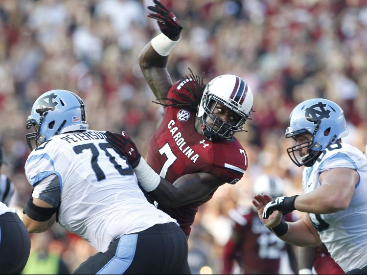 North Carolina Vs. South Carolina College Football 2015
