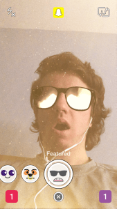 Snapchat Lenses - Sunglasses With Explosion Snapchat Lens