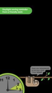 Snapchat Filters - Sloth Daylight Savings Reminder Snapchat Filter