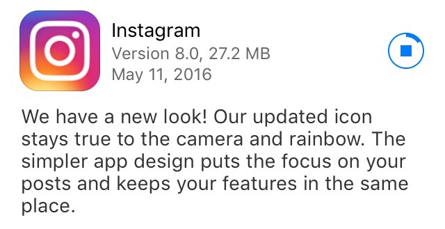 New Instagram Icon Update May 11th 2016