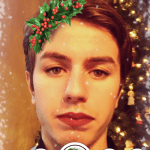 How to Get The Christmas Holly With Lipstick Snapchat Lens Filter 2016