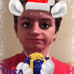 Love Visa Christmas Cat Snapchat Lens Filter 2016