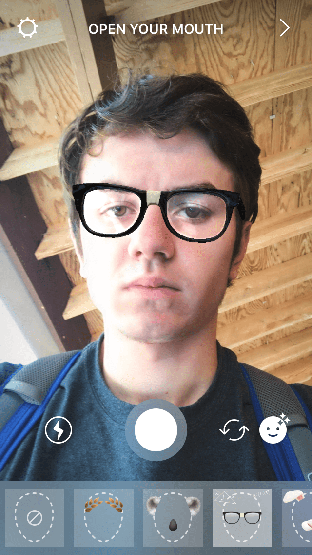Nerdy Glasses With Math Problems Instagram Face Filter