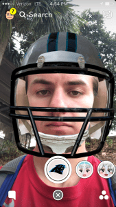 How to Get The Carolina Panthers Football Helmet Snapchat Lens Filter