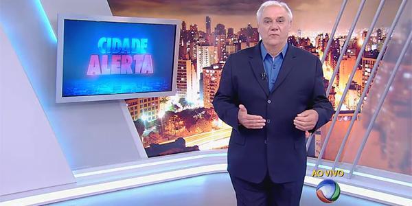 """Marcelo Rezende comanda o """"Cidade Alerta"""" (Foto: Reprodução / Record)"""