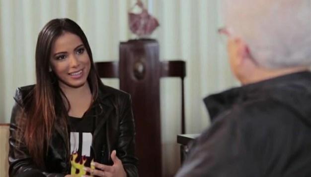 Anitta foi entrevistada por Aguinaldo Silva (Foto: Reprodução)
