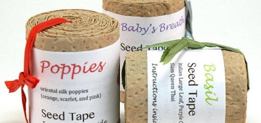 家庭菜園初心者でも簡単種まき!間隔をお任せできるハンドメイドシードテープが素敵