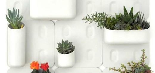 真っ白な壁に緑を添えよう。ぺたっと貼れるマグネット式プランター「urbio」