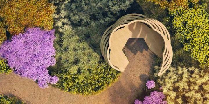"""人とハチがくつろぐ空間。蜂の巣ベンチで、""""花粉の運び屋""""と仲良くなろう"""