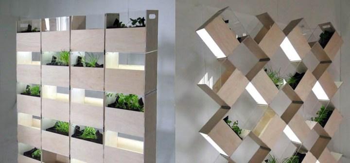 20個の箱で作るプランター菜園「Herb2」。変形させて、違う表情を楽しもう