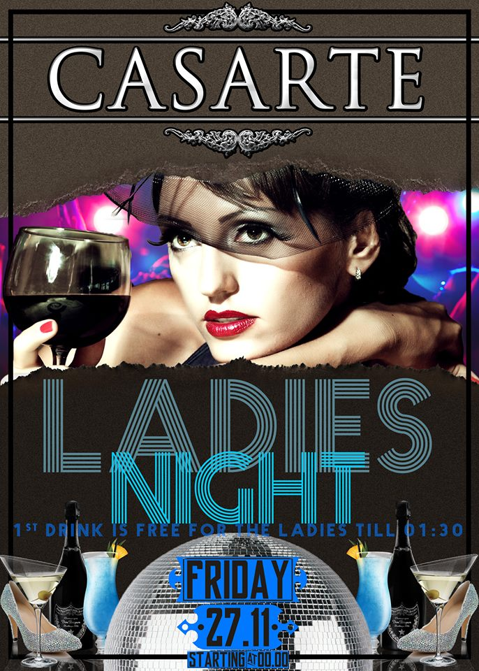 Ladies night  στο Casarte club στην Πτολεμαΐδα, την Παρασκευή 27 Νοεμβρίου