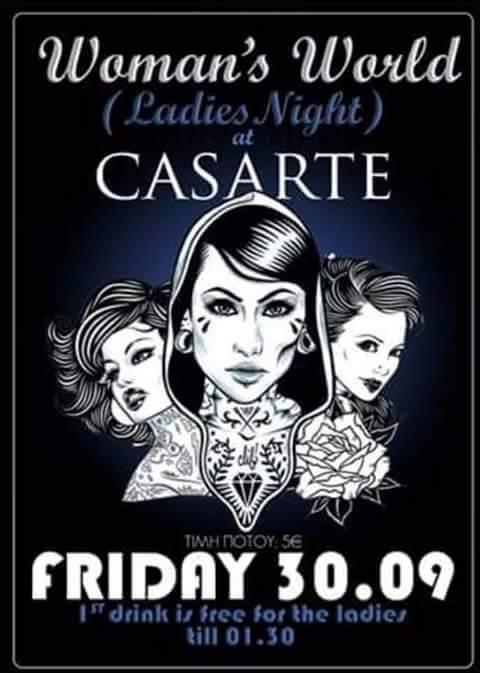 Ladies night στο Casarte club στην Πτολεμαΐδα, την Παρασκευή 30 Σεπτεμβρίου