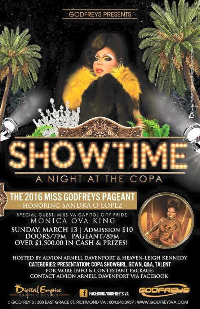 Show Ad   Miss Godfrey's   Godfrey's Restaurant and Nightclub (Richmond, Virginia)   3/13/2016
