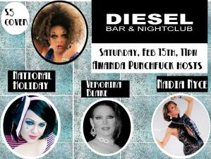 Show Ad | Diesel Bar & Nightclub (Springfield, Ohio) | 2/15/2014