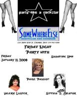 Show Ad | SomeWhere Else Nightclub and Showbar (Columbus, Ohio) | 1/11/2008