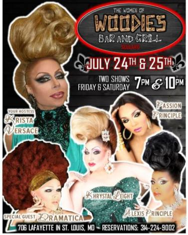 Show Ad | Woodies Bar and Grill (St. Louis, Missouri) | 7/24-7/25/2015