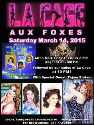 Show Ad | Grey Fox (St. Louis, Missouri) | 3/14/2015