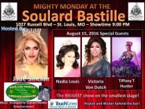 Show Ad | Soulard Bastille (St. Louis, Missouri) | 8/15/2016