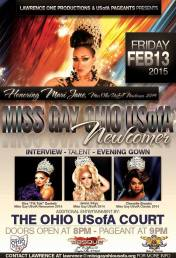 Show Ad | Miss Gay Ohio USofA Newcomer | Masque Night Club (Dayton, Ohio) | 2/13/2015