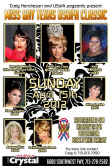 Show Ad | Miss Gay Texas USofA Classic | Crystal (Houston, Texas) | 4/15/2012