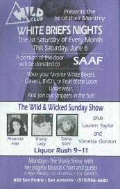 Show Ad   Wild Club (San Antonio, Texas)   June 1992