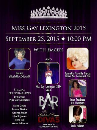 Show Ad   Miss Gay Lexington   Bar Complex (Lexington, Kentucky)   9/25/2015