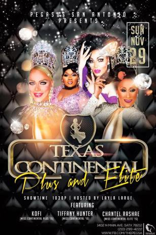 Show Ad | Miss Texas Continental Plus and Elite | Pegasus Nightclub (San Antonio, Texas) | 11/29/2015