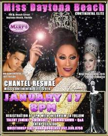 Show Ad | Miss Daytona Beach Continental Elite | Hamburger Mary's (Daytona Beach, Florida) | 1/17/2016