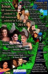 Show Ad | Texas All American Goddess and at Large | Rose Room (Dallas, Texas) | 1/16/2014