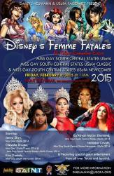 Show Ad | Miss Gay South Central States USofA, USofA Classic and USofA Newcomer | Saint (San Antonio, Texas) | 2/6/2015