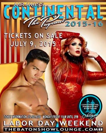 Show Ad | Mr. and Miss Continental | The Baton Show Lounge (Chicago, Illinois) | September 2015