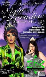 Show Ad | Miss Gay Northwest Arkansas America | C4 Nightclub & Lounge (Fayetteville, Arkansas) | 5/15/2016