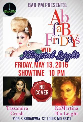 Show Ad | Bar PM (St. Louis, Missouri) | 5/13/2016