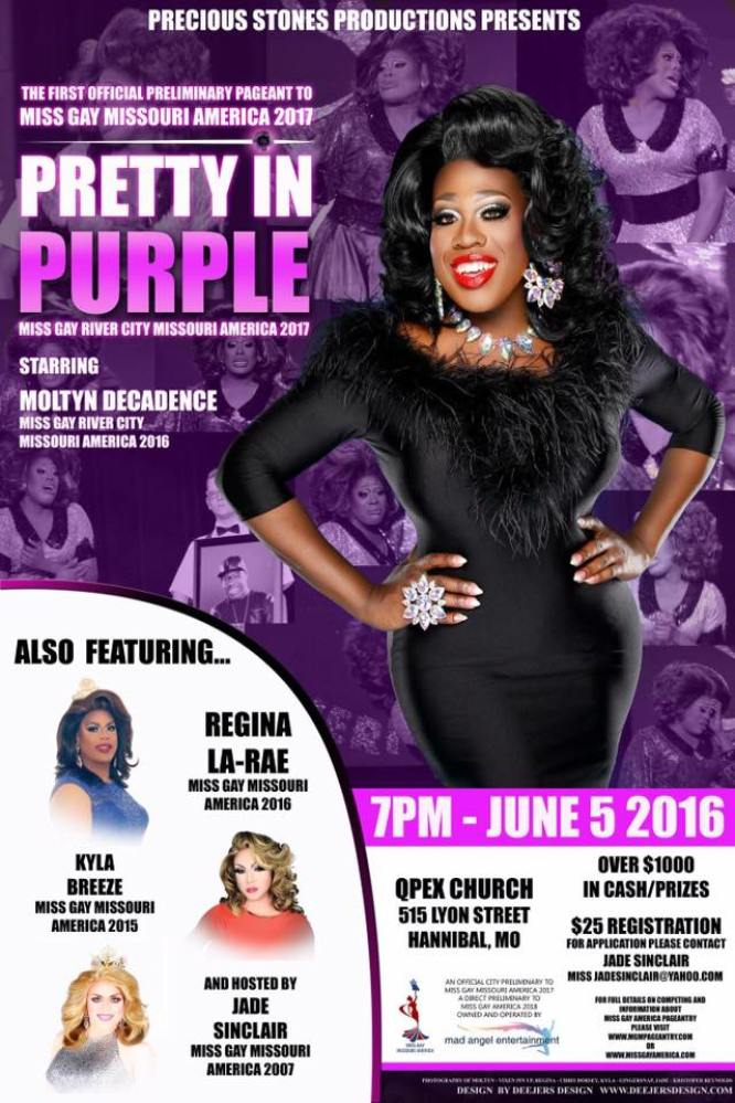 Show Ad | Miss Gay River City America | Qpex Church (Hannibal, Missouri) | 6/5/2016