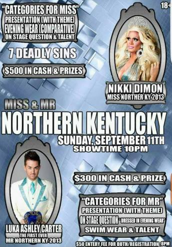 Show Ad | Miss and Mr. Northern Kentucky | Dock Complex (Cincinnati, Ohio) | 9/11/2016