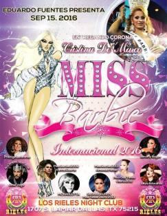 Show Ad   Miss Barbie International   Los Rieles Night Club (Dallas, Texas)   9/15/2016