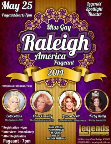Show Ad | Miss Gay Raleigh America | Legends Nightclub Complex (Raleigh, North Carolina) | 5/25/2014