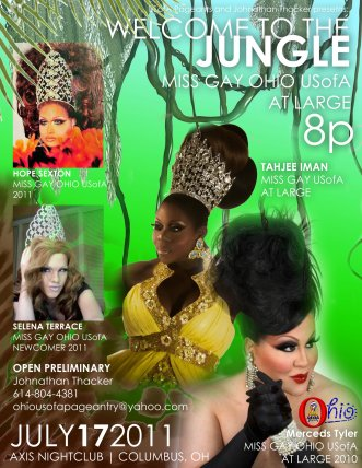 Show Ad | Miss Gay Ohio USofA at Large | Axis Night Club (Columbus, Ohio) | 7/17/2011